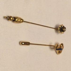 Vintage - 2 Straight Pins